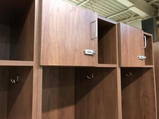 Custom cabinets with lock