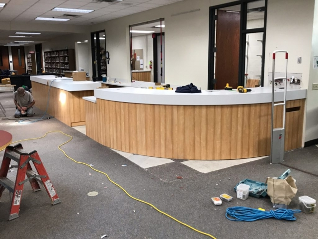 custom woodwork for stores