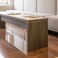 Custom cabinets and table